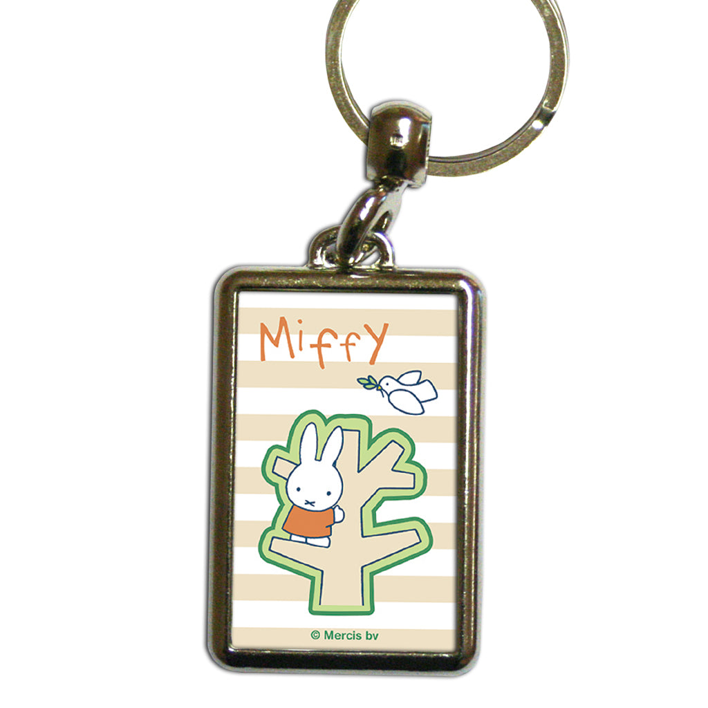Miffy Tree Metal Keyring
