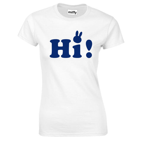 ladies miffy 'Hi' - white T-Shirt