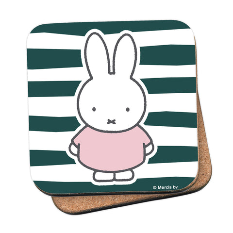 miffy floral expression stripes coaster