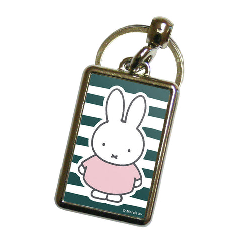 miffy floral expression stripes metal keyring