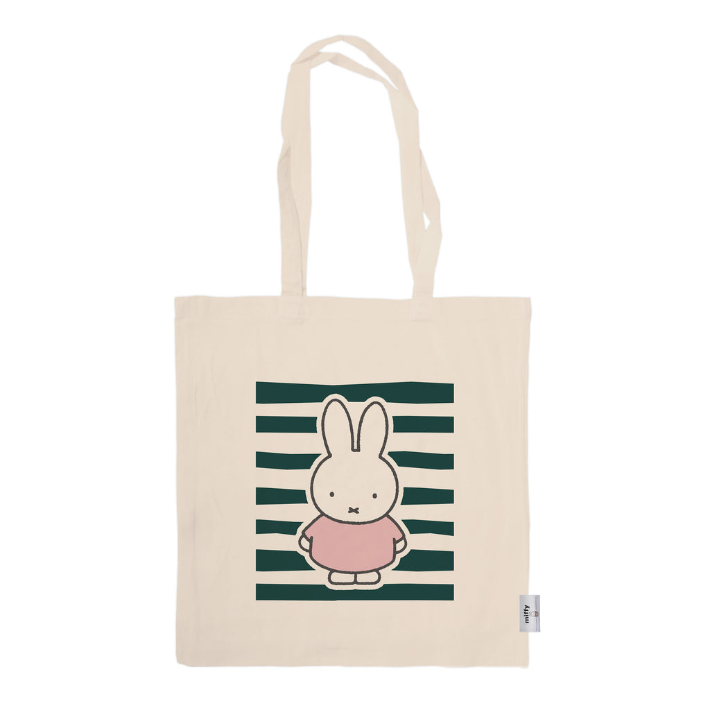 miffy floral expression stripes tote