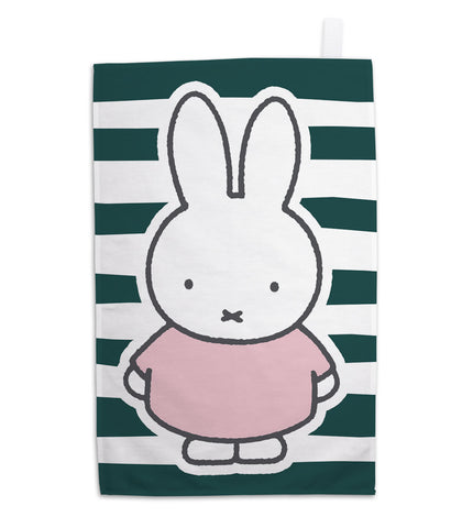 miffy floral expression stripes tea towel
