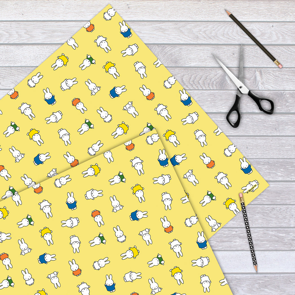Miffy All Over Yellow Gift Wrap Sheet