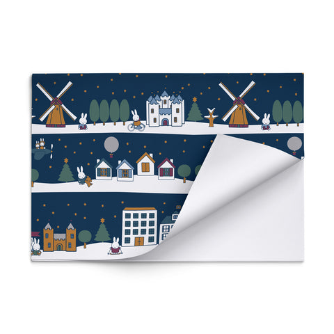 Miffy Christmas Scenes Gift Wrap