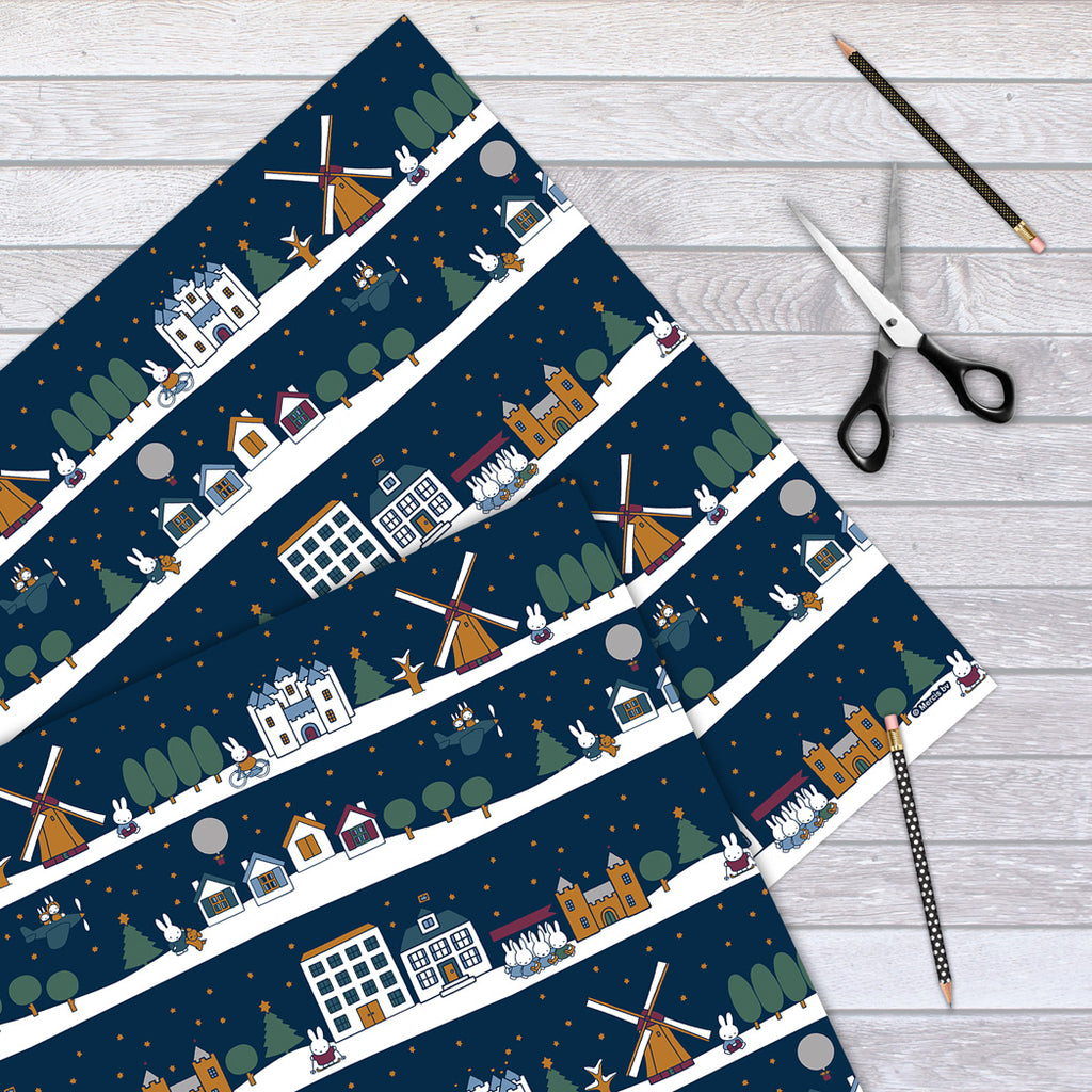 Miffy Christmas Scenes Gift Wrap Sheet