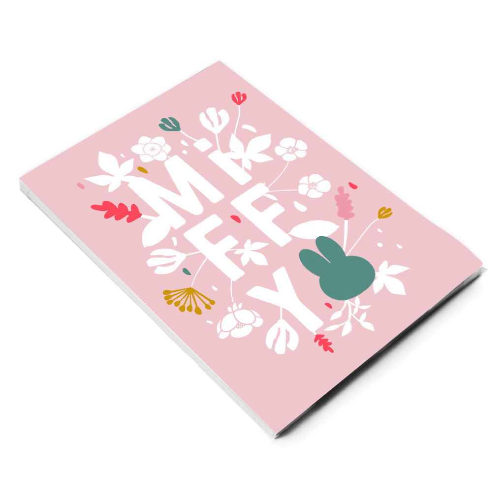 miffy floral expression pink a5 notepad