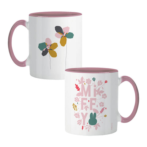 miffy floral expression pink colour insert mug