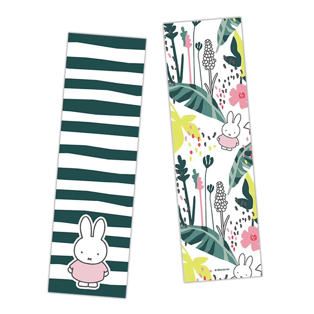 miffy floral expression stripes bookmark