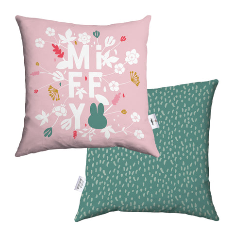 miffy floral expression pink cushion