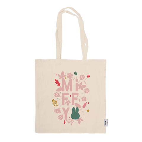 miffy floral expression pink tote