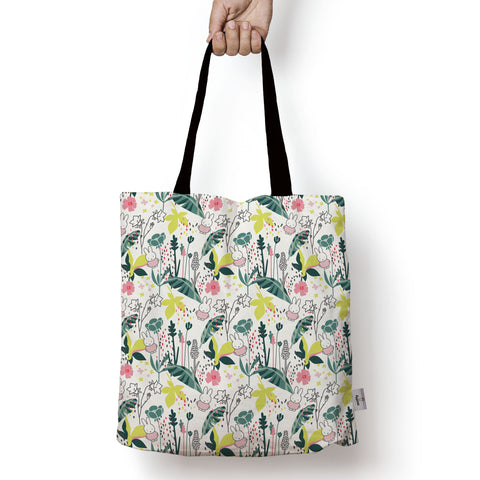miffy floral expression pattern edge to edge tote bag