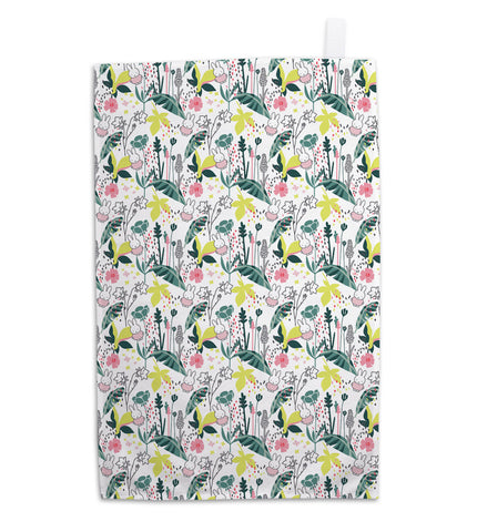 miffy floral expression pattern tea towel