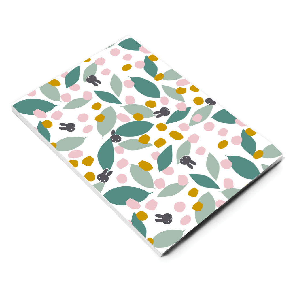 miffy floral expression teal a5 notepad