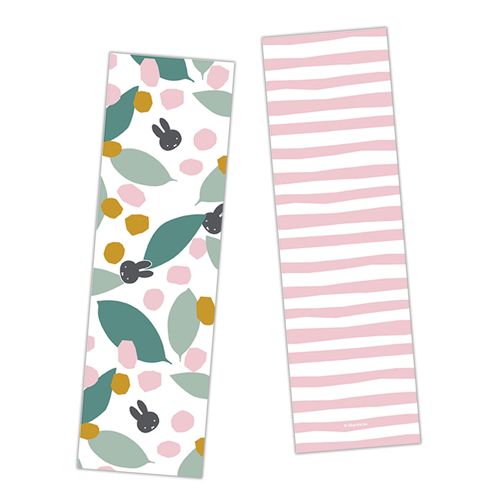 miffy floral expression teal bookmark