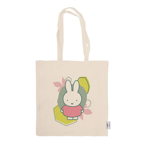 miffy floral expression pink dress tote bag