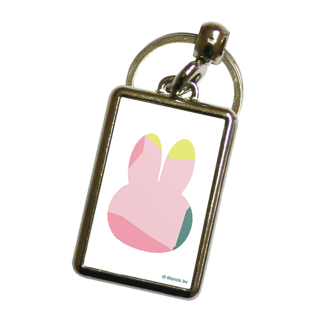 miffy floral expression pink pattern metal keyring