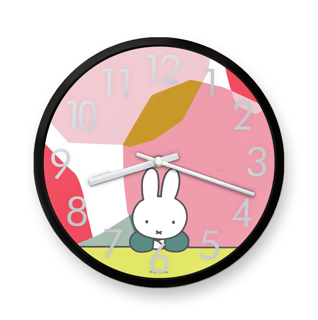 miffy floral expression pose clock