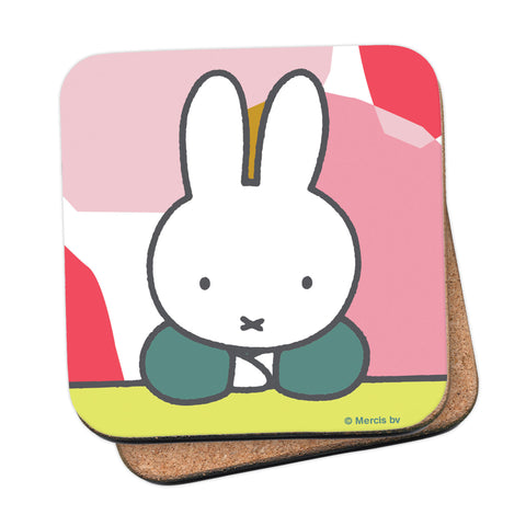 miffy floral expression pose coaster
