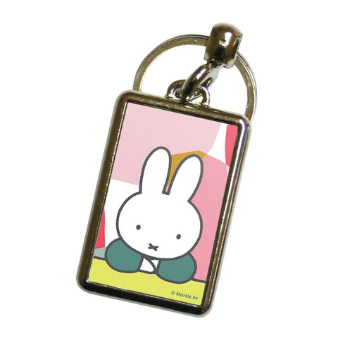 miffy floral expression pose metal keyring