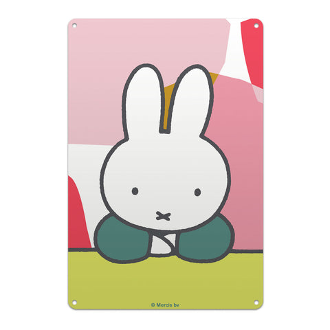 miffy floral expression pose metal sign