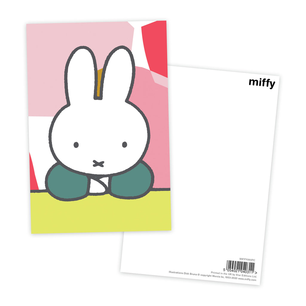 miffy floral expression pose postcard