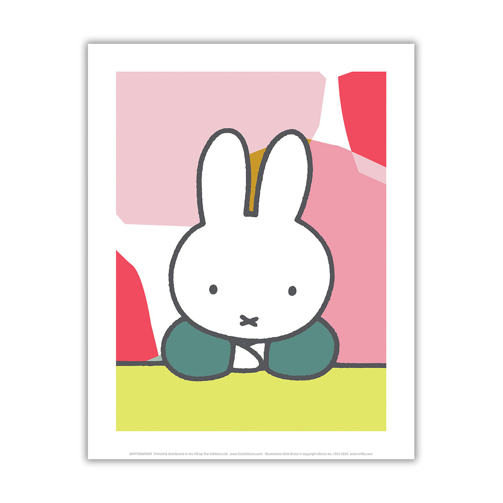 miffy floral expression pose mini poster