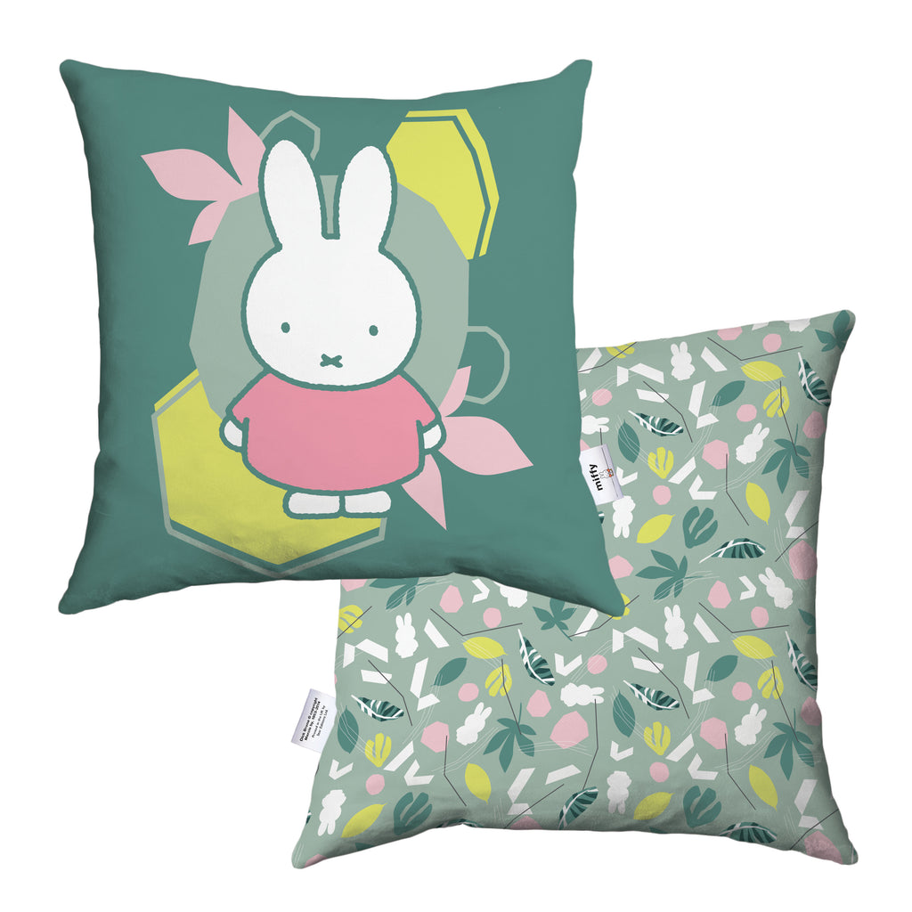 miffy floral expression pink dress cushion