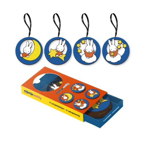 Miffy set of 4 Wooden Hanging Decorations