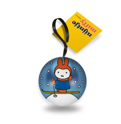 Miffy Metal Christmas Bauble - Opens to add a gift