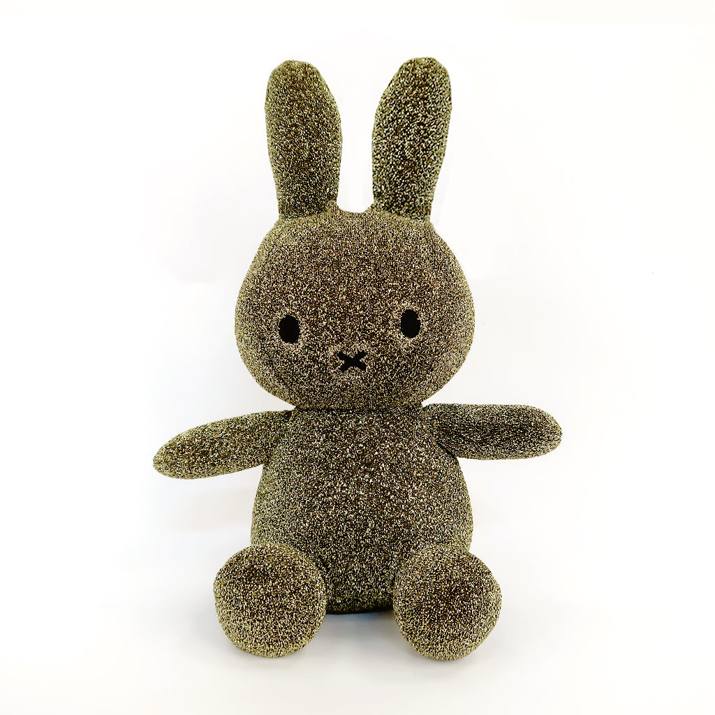 Miffy Gold Glitter Plush