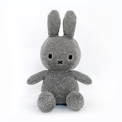 Miffy Silver Glitter Plush