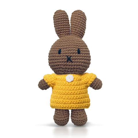 Nina Handmade crochet and her yellow dress Miffy Handmade Yellow Dress