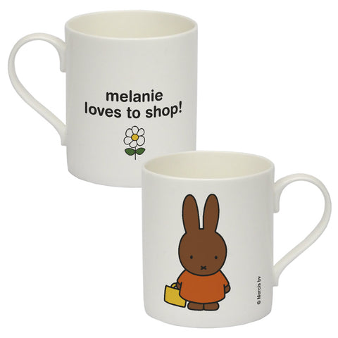melanie loves to shop Personalised Bone China Mug