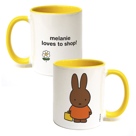 melanie loves to shop Personalised Coloured Insert Mug