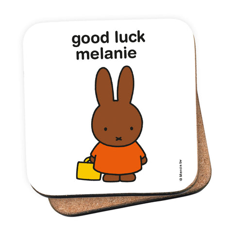good luck melanie Personalised Coaster