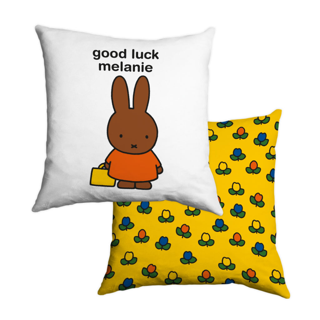 good luck melanie Personalised Cushion