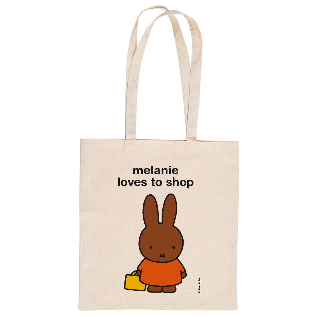 melanie loves to shop Personalised Tote Bag