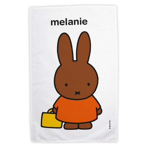Cute Melanie Personalised Tea Towel