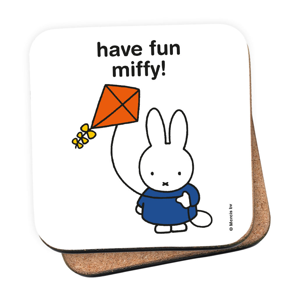 have fun miffy! Personalised Coaster