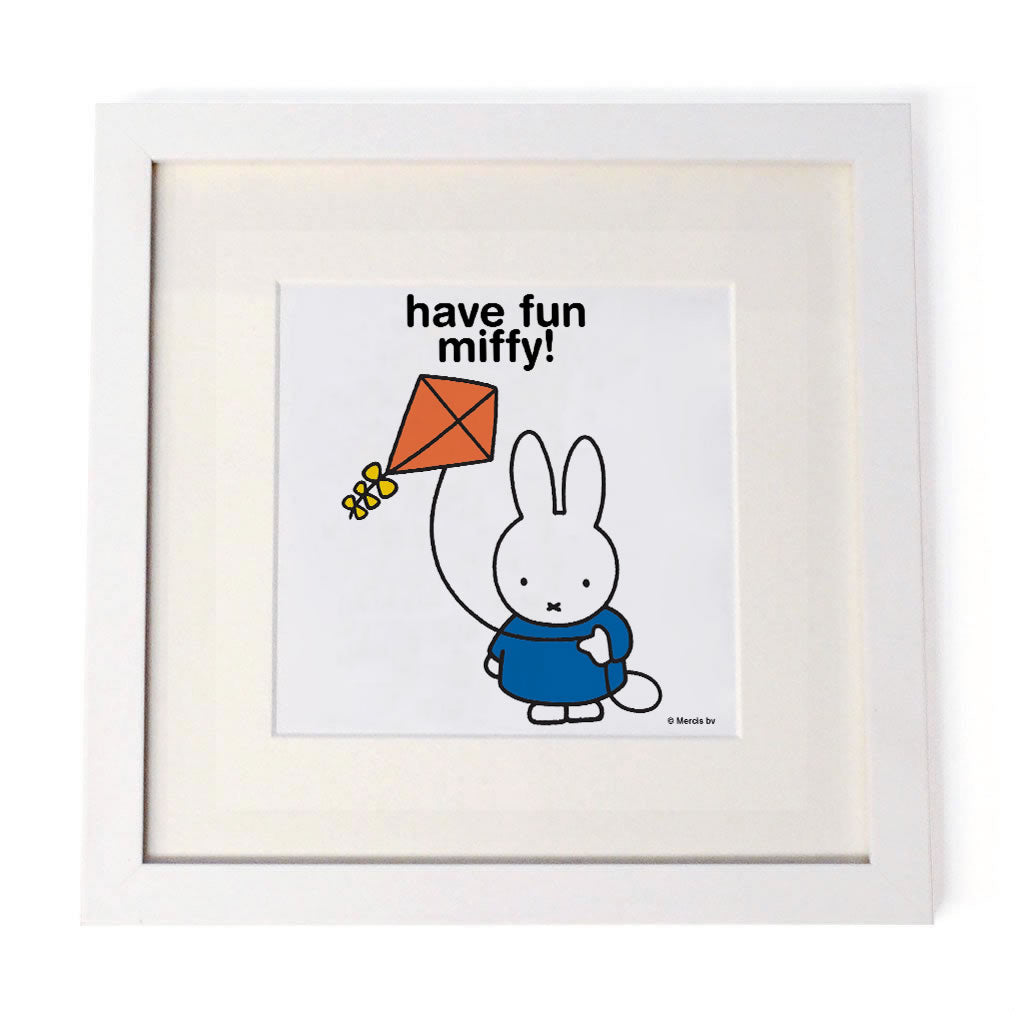 have fun miffy! Personalised White Framed Square Print