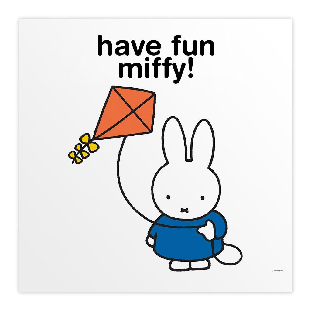 have fun miffy! Personalised Square Print