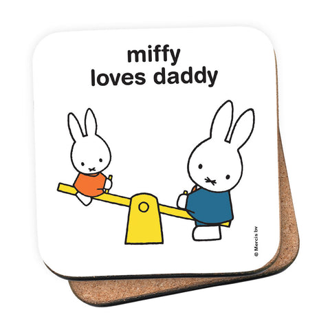miffy loves daddy Personalised Coaster
