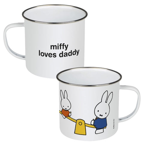 miffy loves daddy Personalised Enamel Mug
