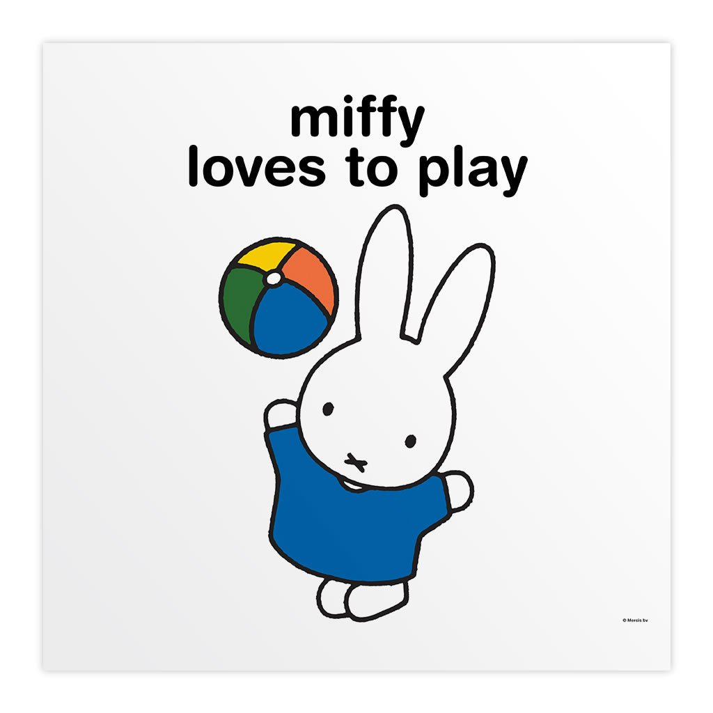 miffy loves to play Personalised Square Print