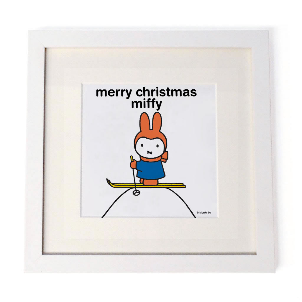 merry christmas miffy Personalised White Framed Square Print