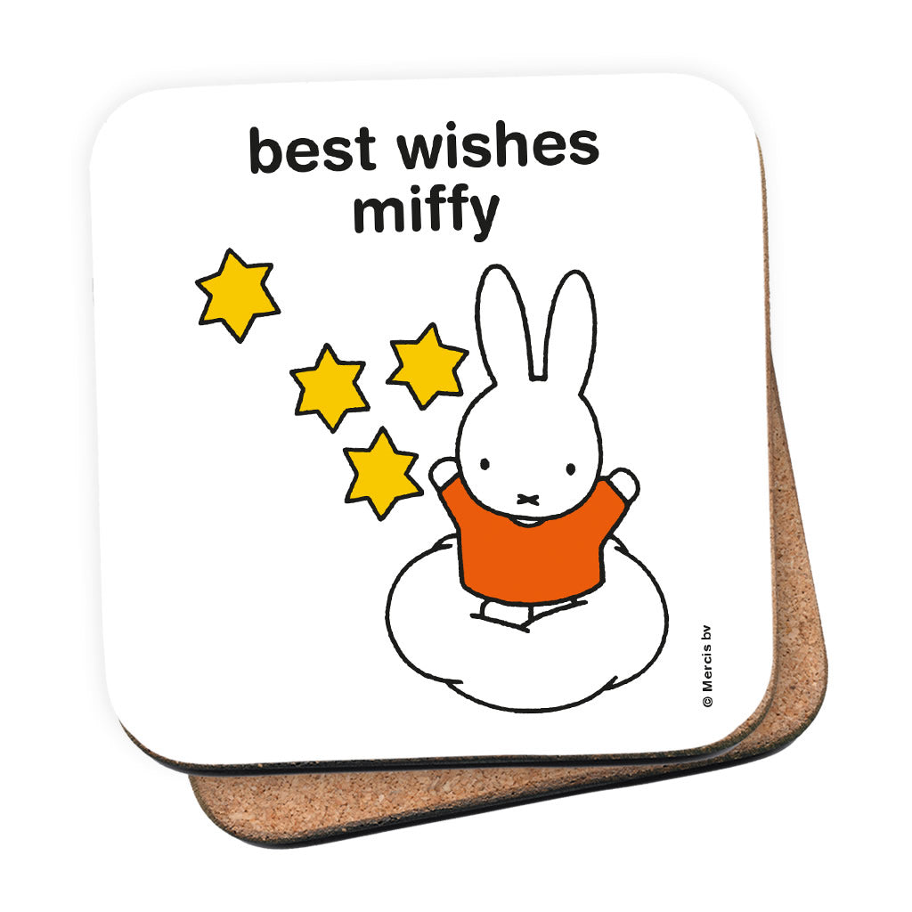 best wishes miffy Personalised Coaster