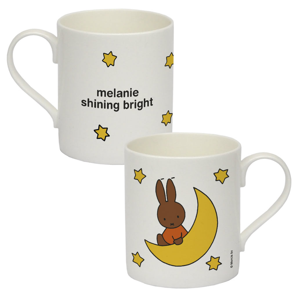 melanie shining bright Personalised Bone China Mug