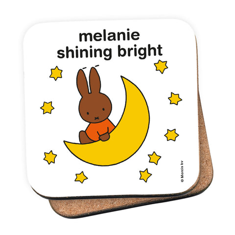 melanie shining bright Personalised Coaster