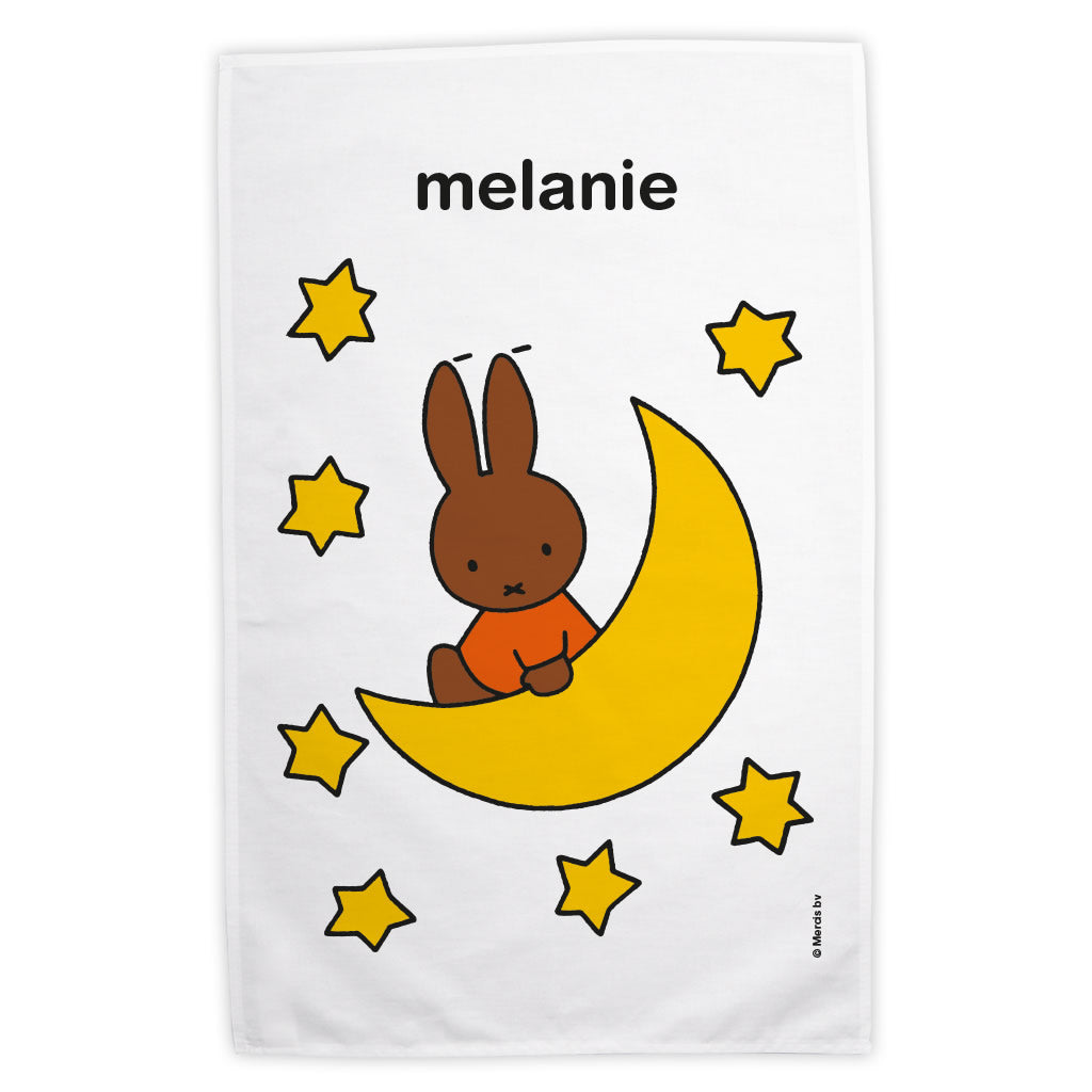 Melanie on the Moon Personalised Tea Towel