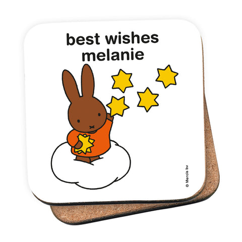 best wishes melanie Personalised Coaster